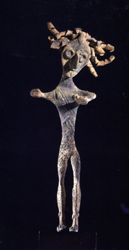 Bronze figure of a warrior
