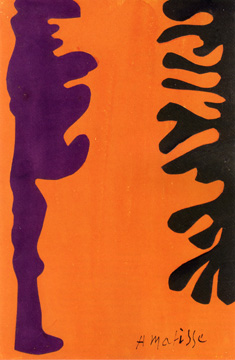 """Arabesques Noires et Violettes sur un Fond Orange"" by Matisse"