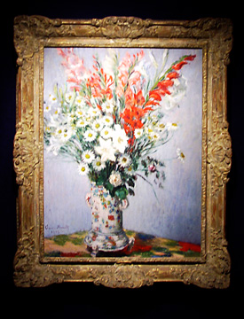"""Bouquet de glaieuls, lis et marguerites"" by Monet"