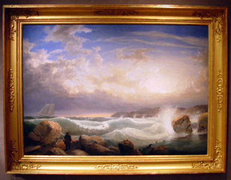 """Rafe's Chasm, Gloucester, Massachusetts"" by Lane"
