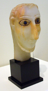 Alabaster head of a man