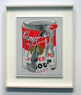 """Small Torn Campbell's Soup Can (Pepper Pot) by Warhol"