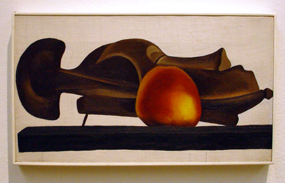 """Mask with Golden Apple"" by O'Keeffe"