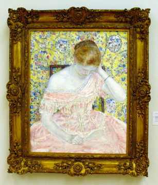 """The Old-Fashioned Gown"" by Frieseke"