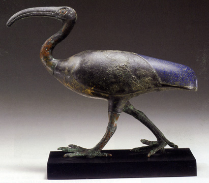 Egyptian statue of ibis