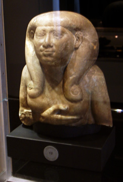 Egyptian bust of a goddess