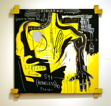 """Untitled (Bracco Di Ferro)"" by Basquiat"