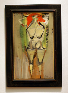 """Figure in Landscape I"" by de Kooning"