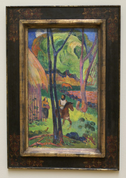 """Cavalier Devant La Case"" by Gauguin"