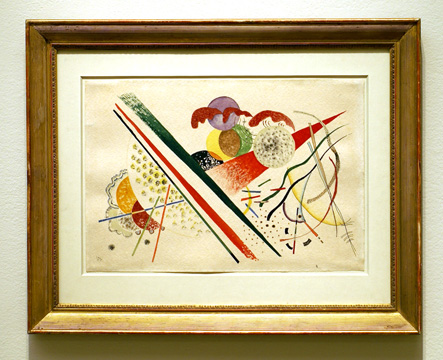 Untitled abstraction by Kandinsky