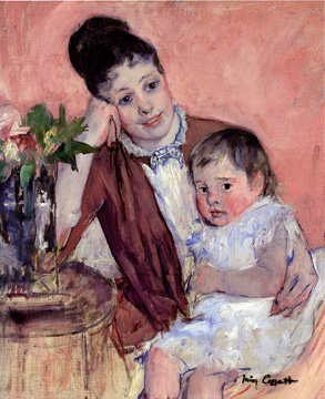 """Madame H. de Fleury and Her Child"" by Cassatt"