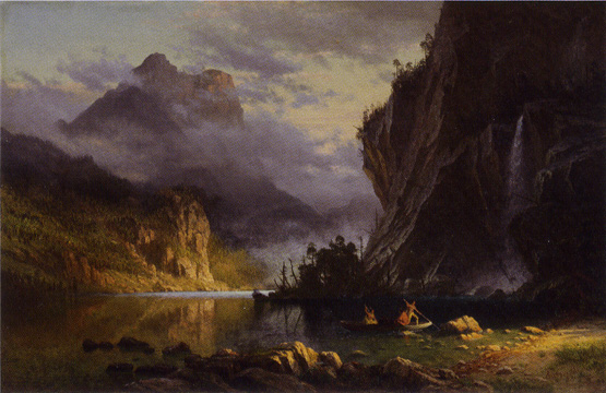 """Indians Spear Fishing"" by Bierstadt"