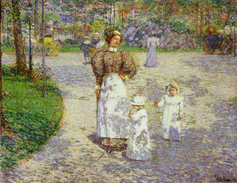 """Spring in Central Park"" by Hassam"