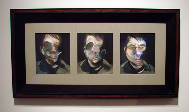 """Three studies for self-portrait"" by Bacon"