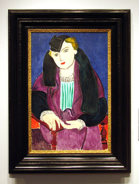 """Portrait au manteau bleu"" by Matisse"