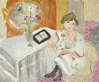 """Femme Assise au Livre Ouvert"" by Matisse"