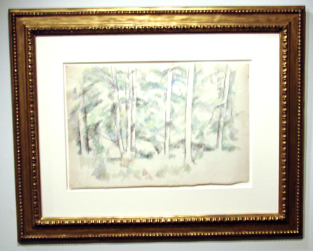 Double-sided watercolor by Cézanne