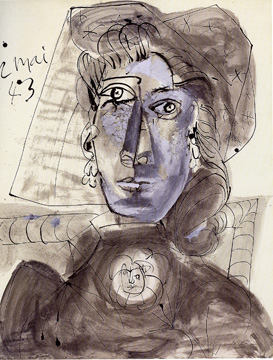 Drawing of Dora Maar by Picasso