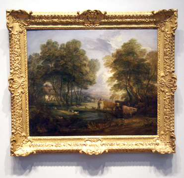 """A wooded landscape with a herdsman"" by Gainsborough"