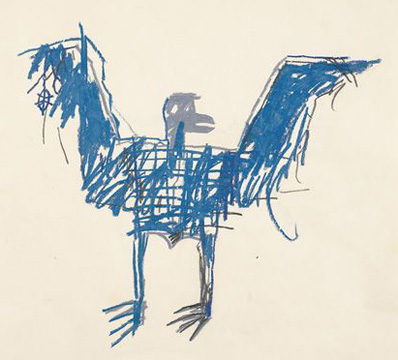 """Untitled (bird)"" by Basquiat"