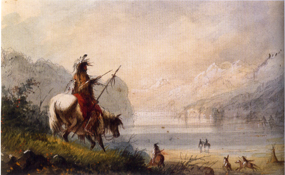 """Oregon Indians Water Horses"" by Miller"