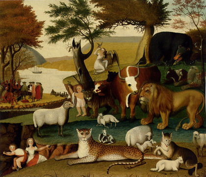 """The Peaceable Kingdom and the Leopard of Serenity"" by Hicks"