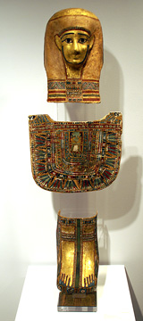 Egyptian cartonnage ensemble
