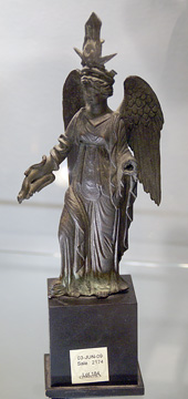 Roman bronze statue of Fortuna