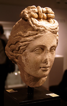 """Roman head of goddess or nymph"