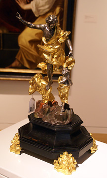 Italian silver and gilt bronze group of Raphael and Tobias