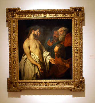 """The Incredulity of St. Thomas"" by Sir Anthony van Dyck"