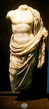 Roman Imperial marble torso of a god or hero