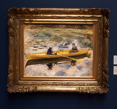"""Claude Monet et Mme Henriot"" by Renoir"