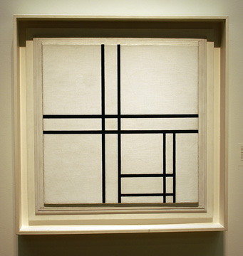 """Composition in Black and White, with Double Lines"" by Mondrian"