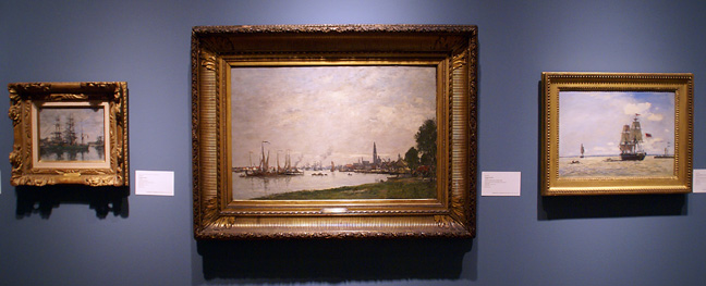 Maritime paintings by Boudin and Jongkind