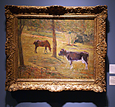 """Vache et cheval"" by Gauguin"