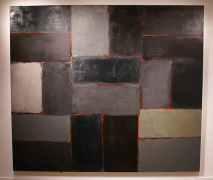 Large painting by Sean Scully