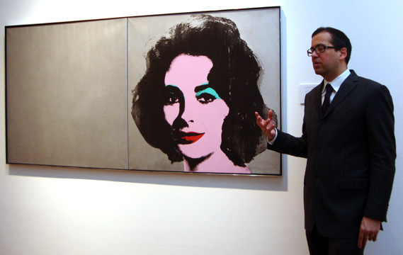 "Robert Manley of Christie's and ""Silver Liz"" by Warhol"