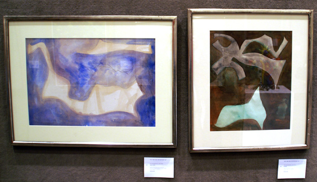 Two paintings by Baziotes