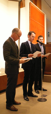Anthony Grant, Tobias Meyer and Alex Rotter of Christie's