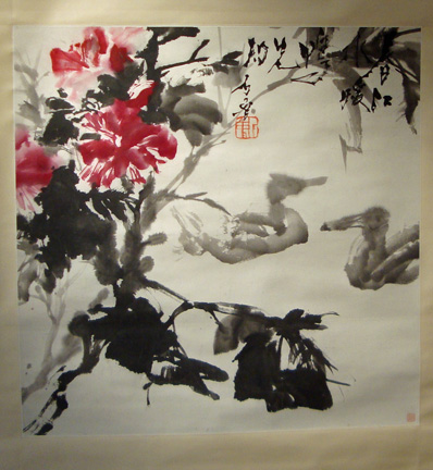 """Ducks are the first to know the warmth of spring"" by Shi Lu"