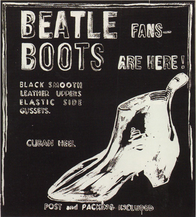 """Beatle Boots (Negative)"" by Warhol"