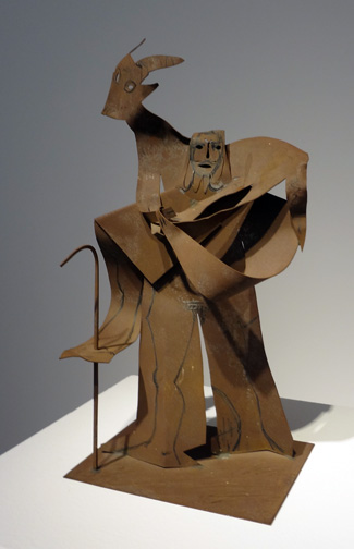 Picasso man sculpture