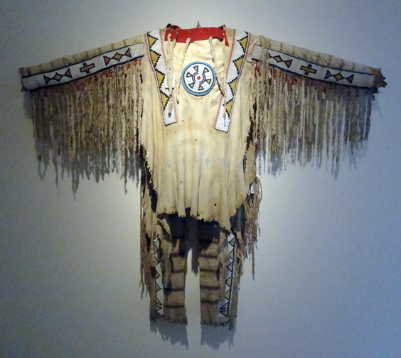 Blackfoot beaded and fringed hide shirt
