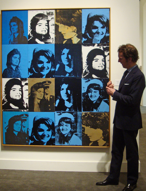16 Jackies by Warhol