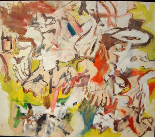 """Figures in a landscape"" by de Kooning"