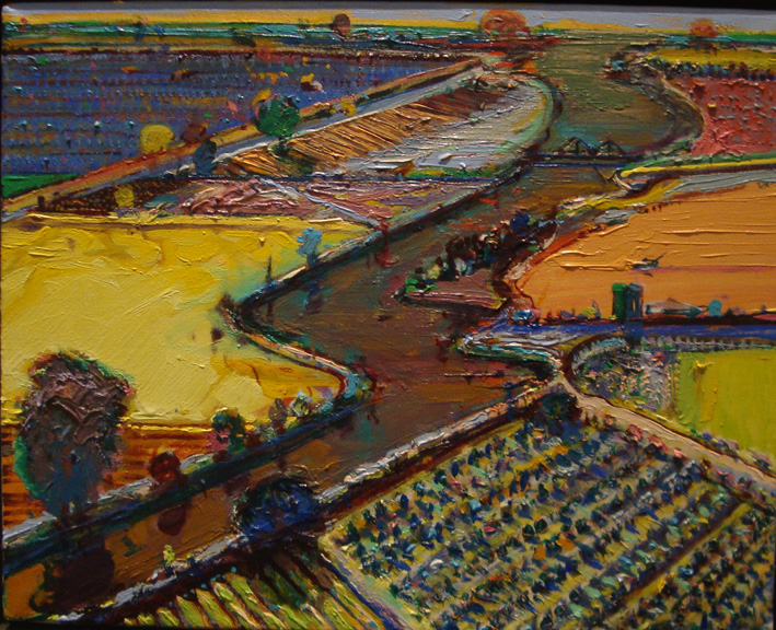 """Brown River"" by Thiebaud"