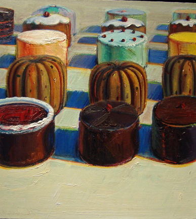 """Various Cakes"" by Thiebaud"