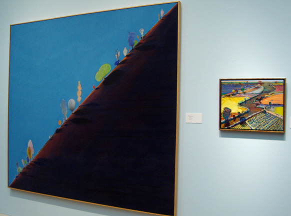 """Diagonal Ridge"" by Thiebaud, left"