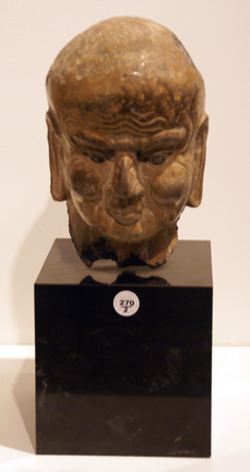 Stone head of a Luohan, Song Dynasty
